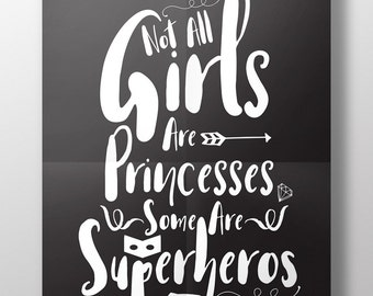 Superhero girls bedroom print, superhero print, prints for girls, girls bedroom print, superhero poster, superhero art, superhero print