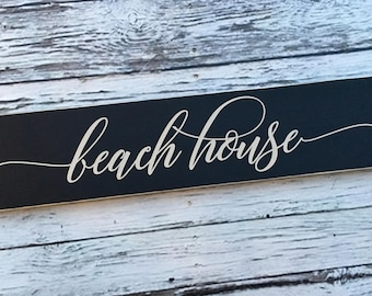 beach house | beach house sign | painted sign | beach house decor | Wood Sign | home decor | beach sign | Style# HM222