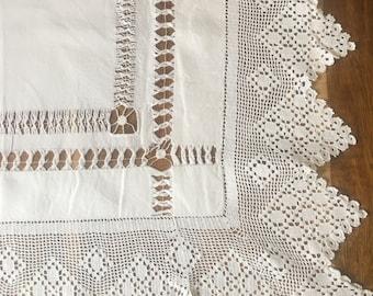 Unique handcrafted Vintage Tablecloth