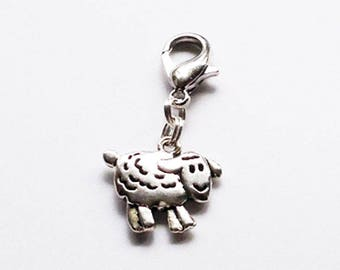 Sheep #1 Progress Keeper/Zipper Pull/Stitch Marker/Mini Stitch Marker Holder/Bag Charm/Dangle Charm