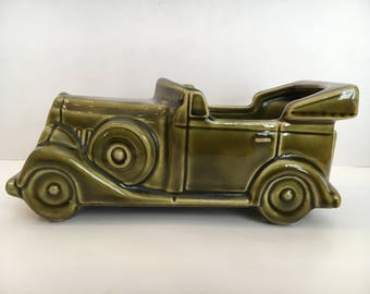 Vintage Car Ceramic Planter Floraline McCoy 532 USA Mid Century