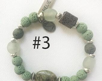 Essential Oil Diffusing Bracelet - Green Jasper