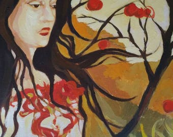 Spirit Women Series: Fire Woman, Oil Painting