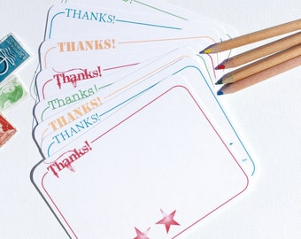 DOWNLOAD and PRINT Starry Thank You Note Flats