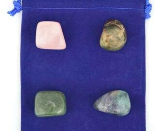 Stress Relief Healing Stone Set - A