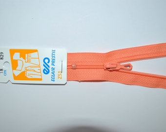 zipper 60cm simple non-detachable dark salmon Z51 829 nylon mesh