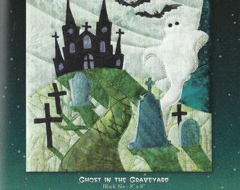 "McKenna Ryan ""Ghost in the Graveyard"" (Block 6) of the Halloweenies Quilt DIY Quilting Sewing"