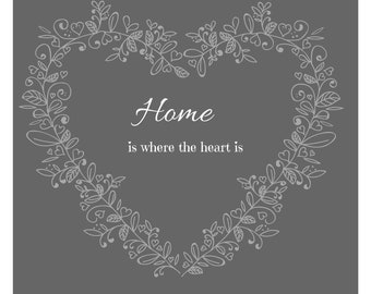 Home is Where the Heart is decorative wall art