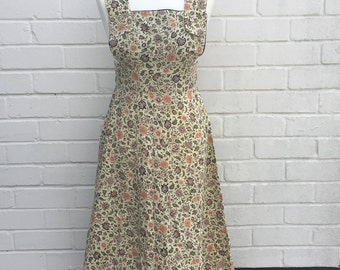 Vintage floral pinafore dress