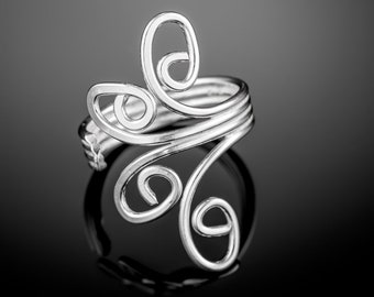 Sterling silver toe ring. boho toe ring. bohemian rings. toe ring silver. adjustable toe ring. boho toe ring. boho ring. gypsy ring.