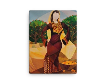 Canvas Print - Abstract Middle Eastern Folk Art