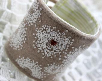 Wrist Cuff Queen Anne's Lace Wool Cuff