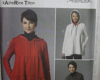 Butterick 6253 Misses Unlined Tiered Jackets with Hood  Size  Xsm-Sml-Med   New Uncut