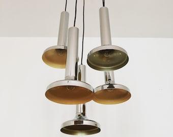 Beautiful 1970 's Sputnik cascading lamp | Chrome Shades |