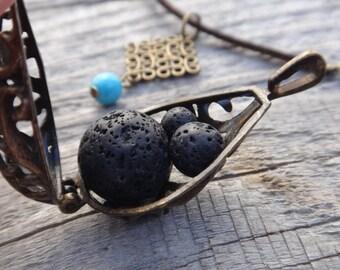 Replacement lava stones for essential oil diffuser car. Trio of Lava beads 14, 8, 6 mm