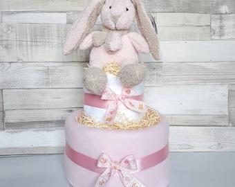 Nappy cake baby girl 2 tier baby shower gift new baby present