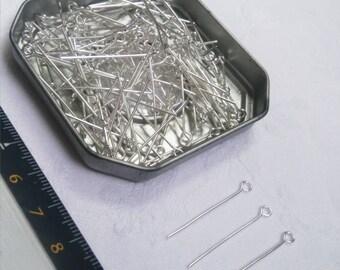 Set of 10 stems Œil Silver 3 cm