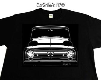 1956 Ford F100 Pickup Truck, V8  T-Shirt, Tee-Shirt