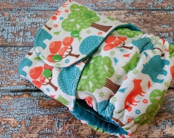 One Size Fitted Cloth Diaper Jungle City