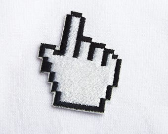 Hand patch Computer cursor patch Computer patch Prop Tumblr patches Cute patches Retro patch Iron on Sew on 90s patches Gift patch ED9050
