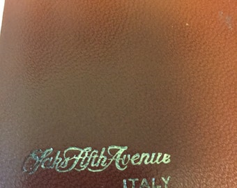 Saks Fifth Avenue Address book with notepad