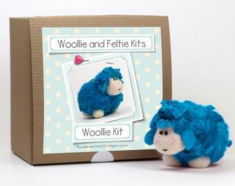 Sheep Needle Felting Kit-Felting gift-Needle Felting Kit-Woollie and Feltie Kit, Woollie Kit