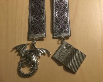Silver Dragon/Book of Death Bookmark