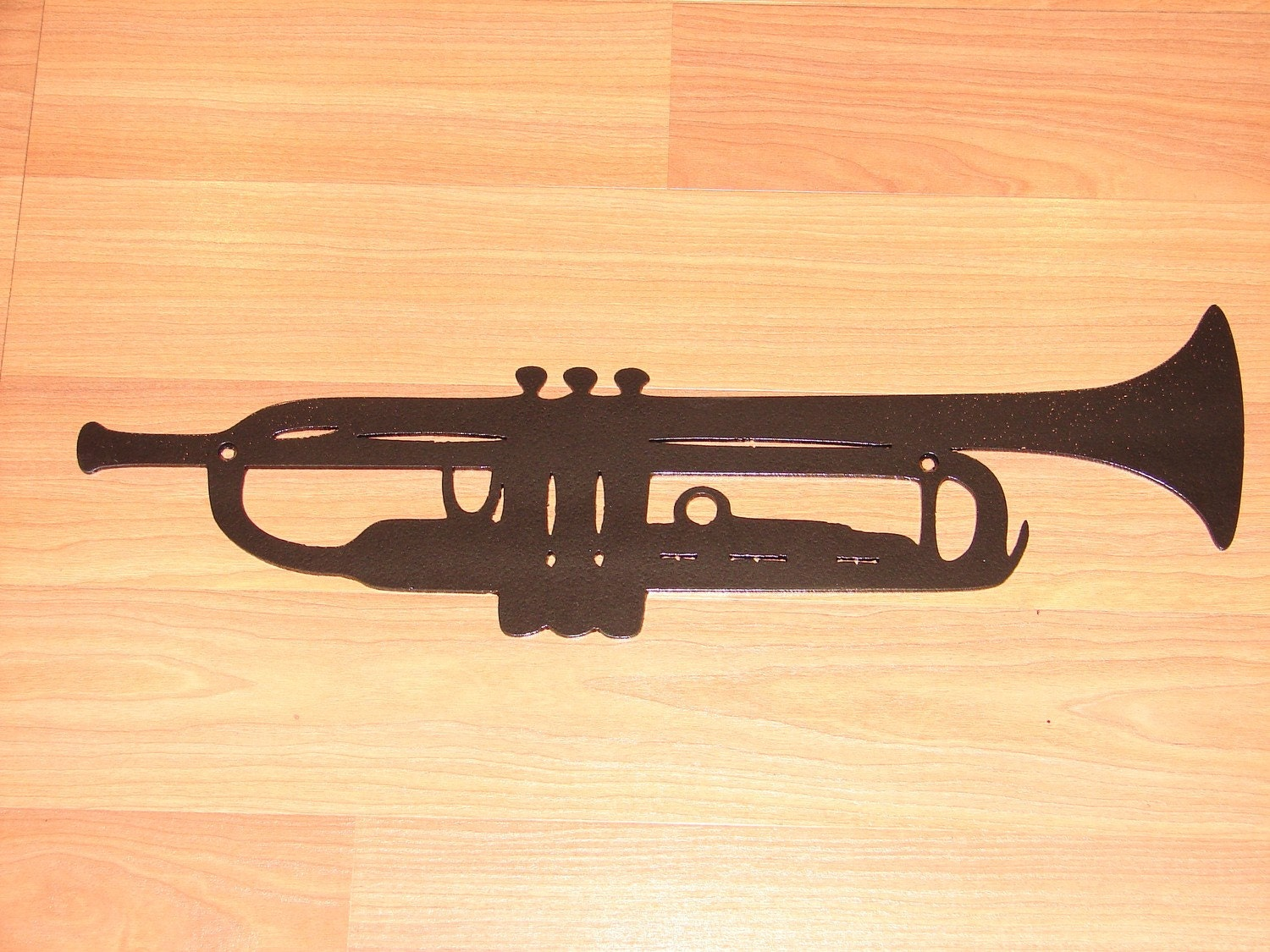 TRUMPET Metal Wall Art Decor Music Jazz INSTRUMENT Band
