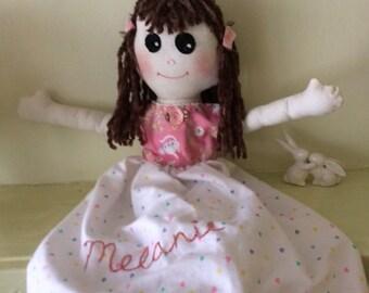 "Handmade Rag Doll - 20"" high - Melanie"