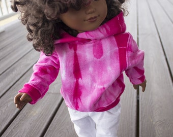 "Custom Colors & Emblem on Hoodies for American Girl Doll n American Boy 18"" Doll Clothes: Add School Name n Image or Sports Team Name n Logo"
