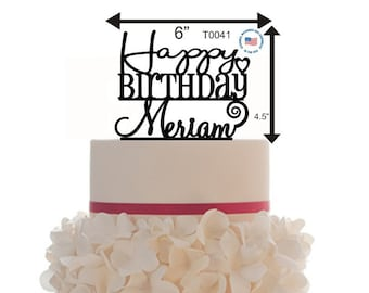 Happy Birthday/Anniversary Cake Topper Personalized With 50 different colors