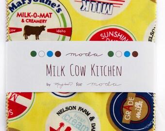 Milk Cow Kitchen charm pack Mary Jane moda fabrics OOP HTF