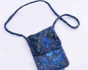 Wet Felted Small Purse