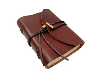 Soft leather book OX Maroon Classic A6 diary book sketchbook of brand Vicky's World - Made in Germany