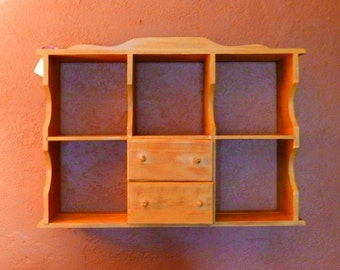 1950's Shelf with Drawers and Plate Grooves