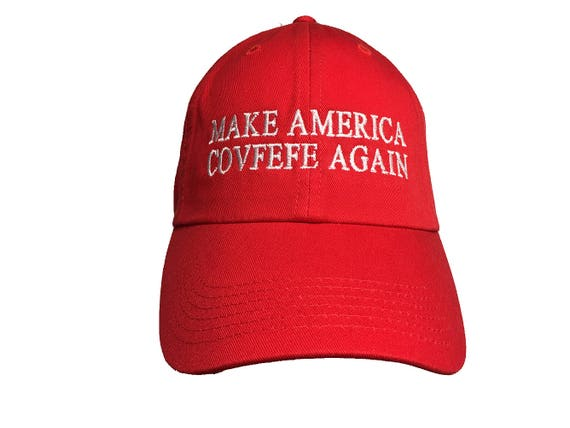Make America Covfefe Again Ball Cap (Available in Various Color Combos)