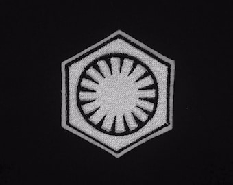 First Order Emblem - Star Wars Embroidered Iron-on Patch