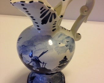 Vintage Delft Pottery Pitcher from 1969 Trip to Holland