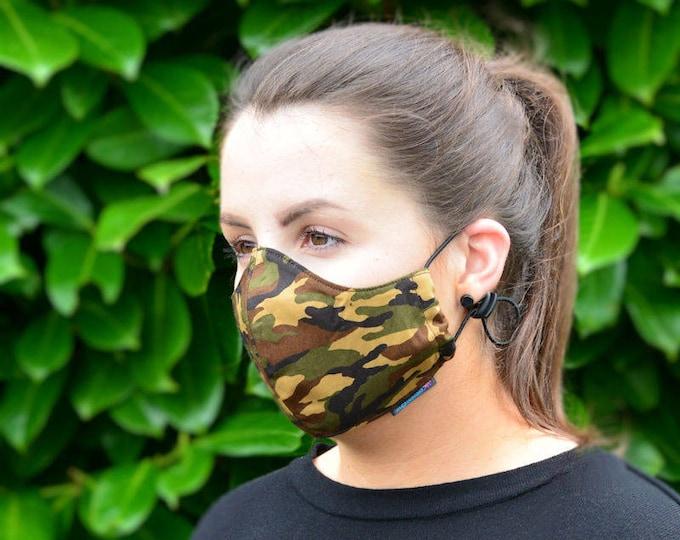 MASKERAID® Camouflage Reusable Cotton Face Mask