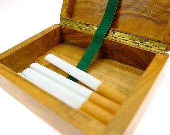 Cigarette boxes cigarillo box Zigarettenbox Solid wood cigarette case