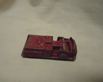 Vintage Midget Toy Red Fire Truck, Rockford ILL. collectable, USA