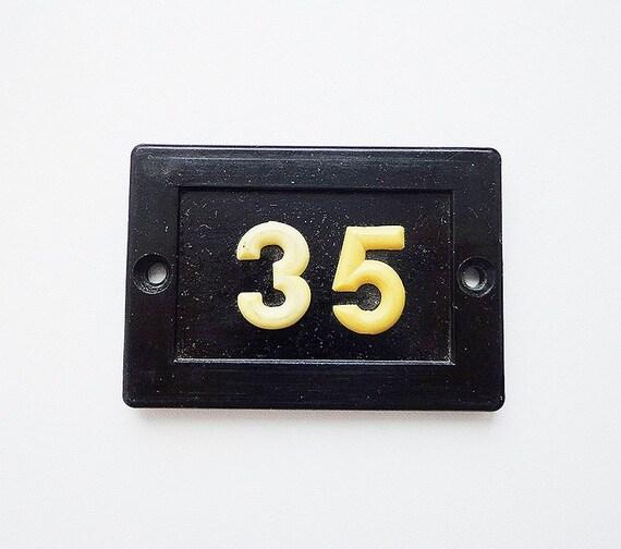 & Vintage door number 35 soviet plastic room number thirty-five