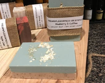 Blueberry Oats & Coffee Goats Milk Soap
