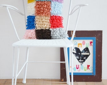 woodwoolstool patchwork pillow