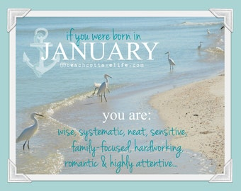 Birthday Birth Month - January February March April May June July August September October November December beachy HOROSCOPE Just for fun!