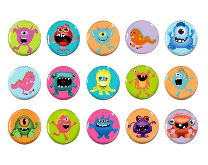 Brightly colored monster magnets - Party favor - board game - Stocking stuffers - Gift for kids - Christmas gift - xmas