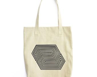 Paragon Geometric Lines tote bag