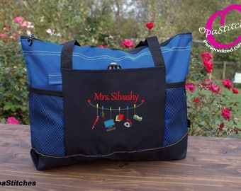 Personalized Secretary, Receptionist, Administrative Assistant, Director, Business leader monogrammed tote bag , graduation gift