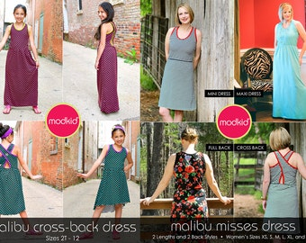 Malibu Girls and Misses PDF Pattern Bundle by MODKID - Instant Digital Download - Buy 2 and SAVE!