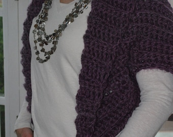 Fashionable Shrug - Alpaca Blend Hand Made Crochet
